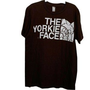 Anvil Brown The Yorkie Face Short Sleeves Shirt M